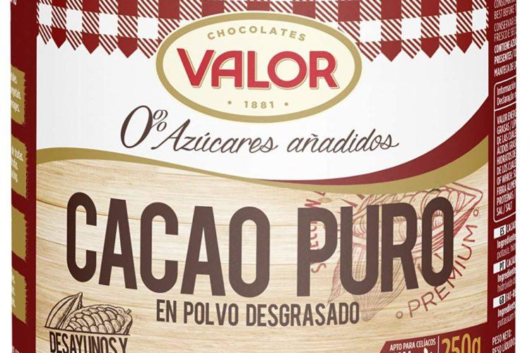 Chocolates Valor - Cacao Puro En Polvo Desgrasado - 250 g