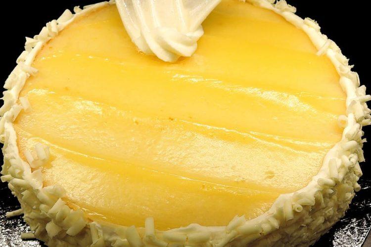 Tarta de limón, sin gluten, sin azúcar y sin horno